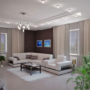 дизайн гостиной фото с двумя окнами в частном доме