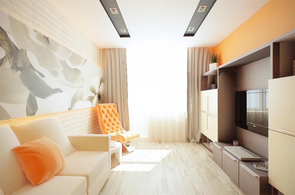 Интерьер однокомнатной квартиры 36 кв.м фото в современном стиле