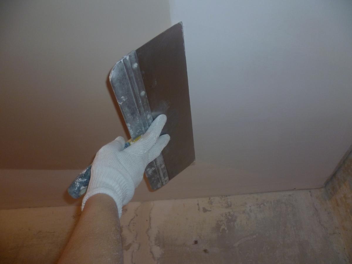 Подготовка потолка из гипсокартона под покраску своими руками